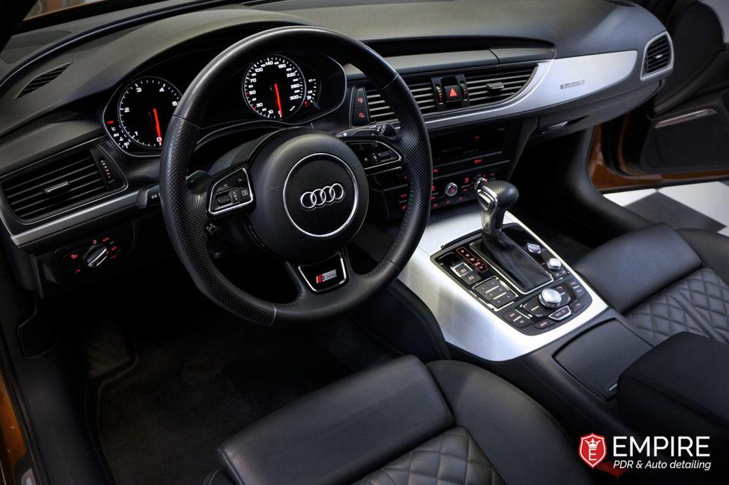 Audi po czyszczeniu wnętrza i skór